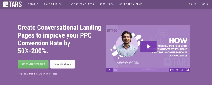TARS Landing Pages