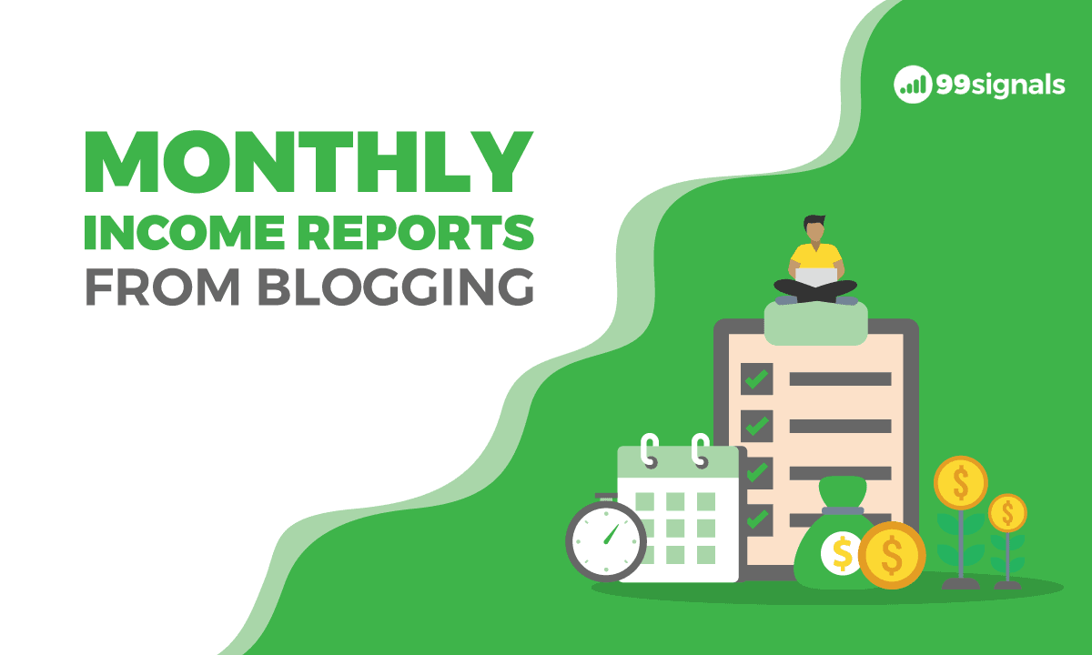 Monthly Income Reports from Blogging
