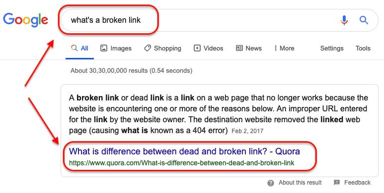 Quora - Google SERP