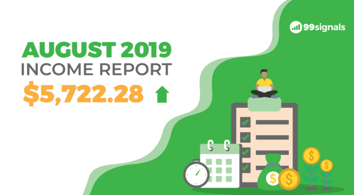 How I Made $5,722.28 in August 2019: Monthly Blog Income Report