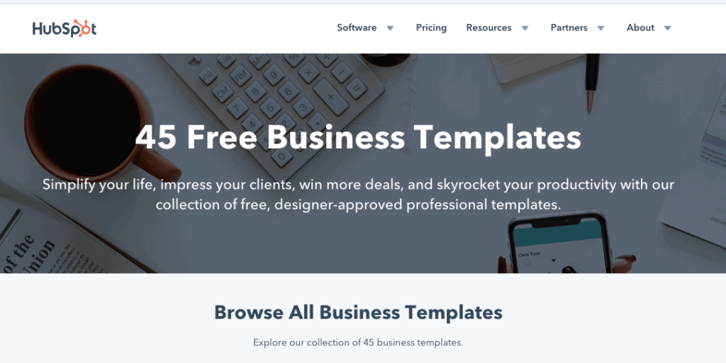 Free Business Templates by HubSpot