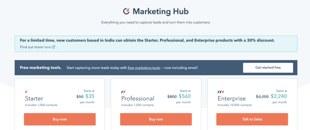 HubSpot Pricing Plans