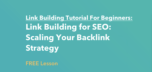 Link Building Lesson by HubSpot