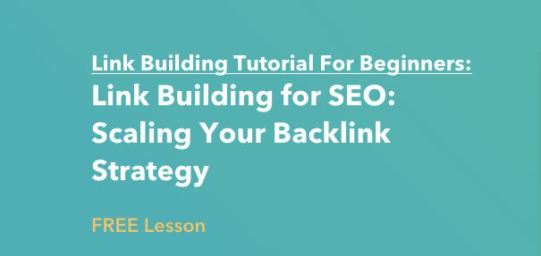 Lezione di link building di HubSpot