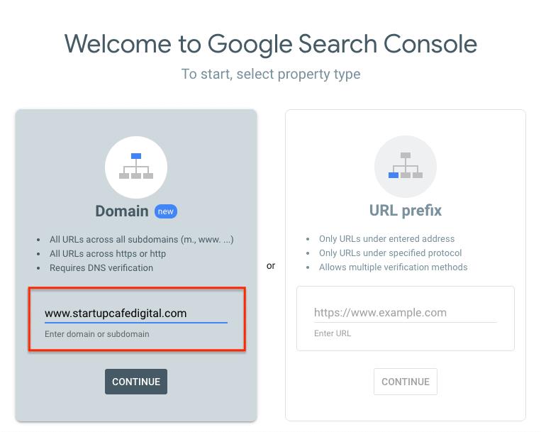 GSC Domain Verification