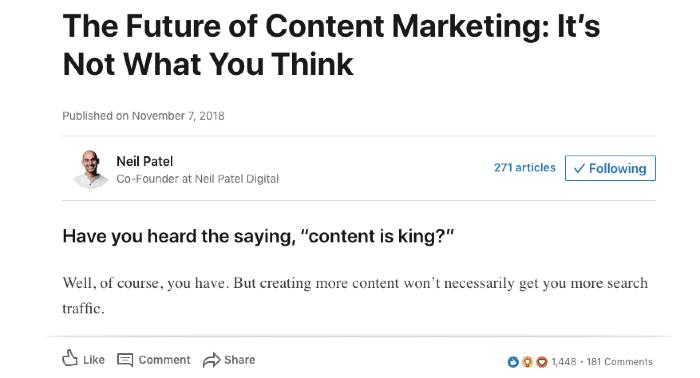 Articoli di LinkedIn