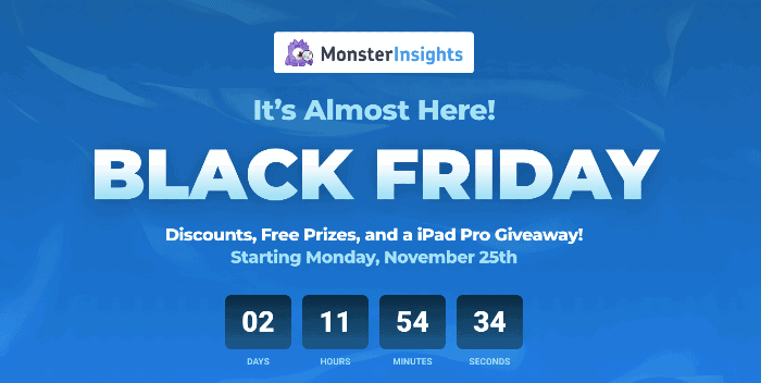 MonsterInsights Black Friday Deal 2019