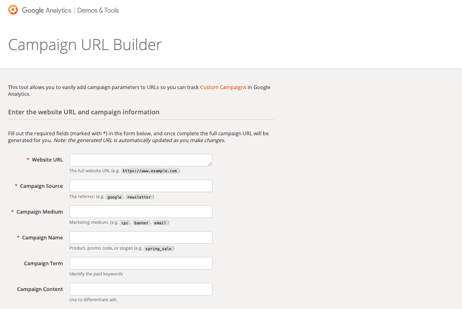 Campaign URL Builder by Google