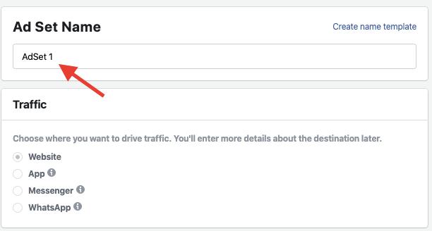 URL Campaign Builder - Ad Set