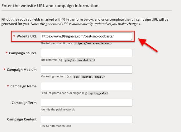 URL Campaign Builder - Annunci FB