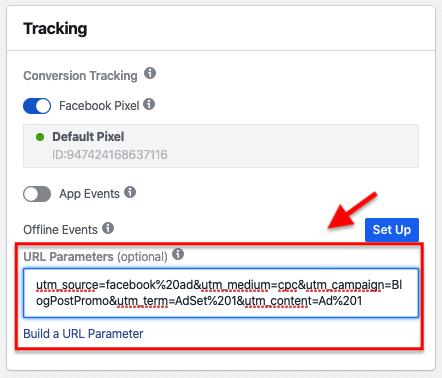 Parametri URL - Annunci FB