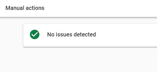 Google Search Console - Manual actions