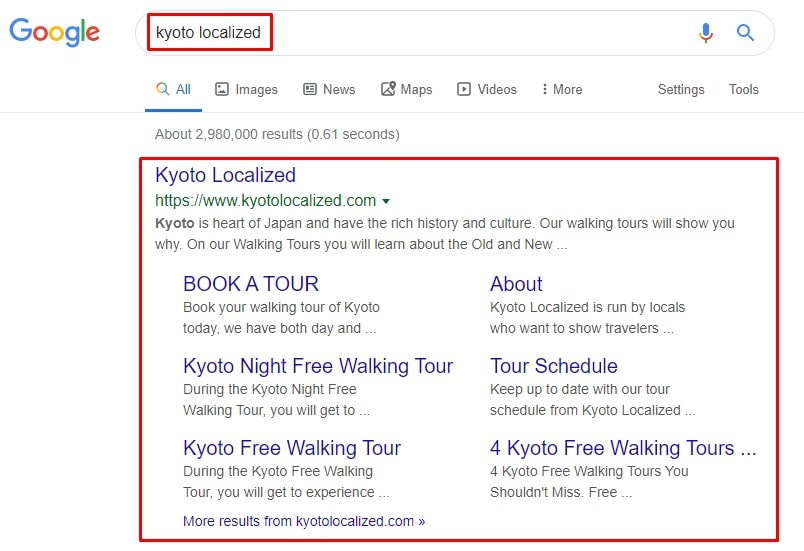 Kyoto Localized - Brand Search SEO Audit