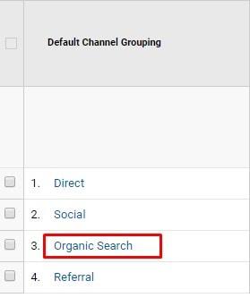 Google Analytics - Organic Search