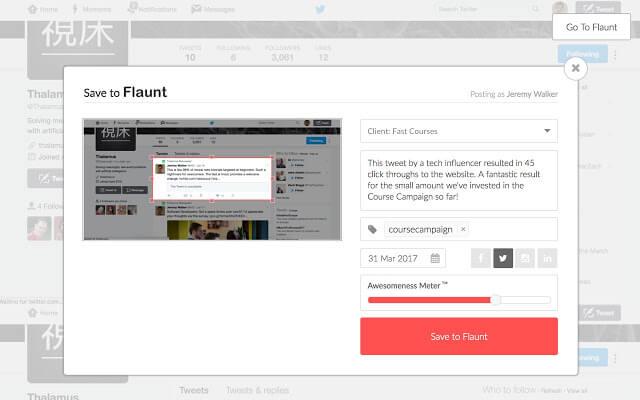 Flaunt Chrome Extension