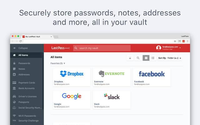 Estensione LastPass per Chrome