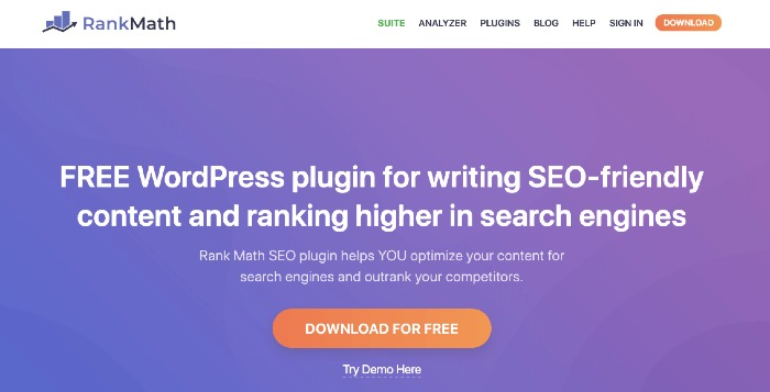 Rank Math Plugin SEO per WordPress