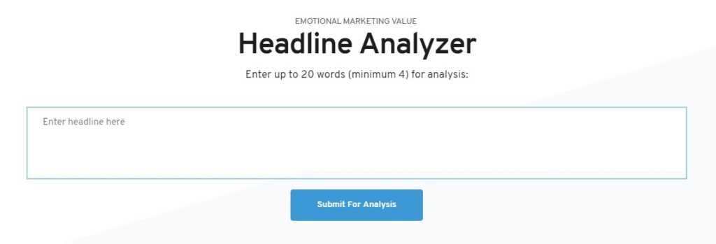 AMI EMV Headline Analyzer