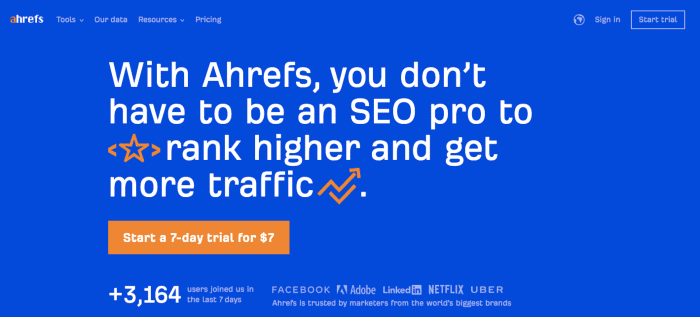 Ahrefs - Home Page