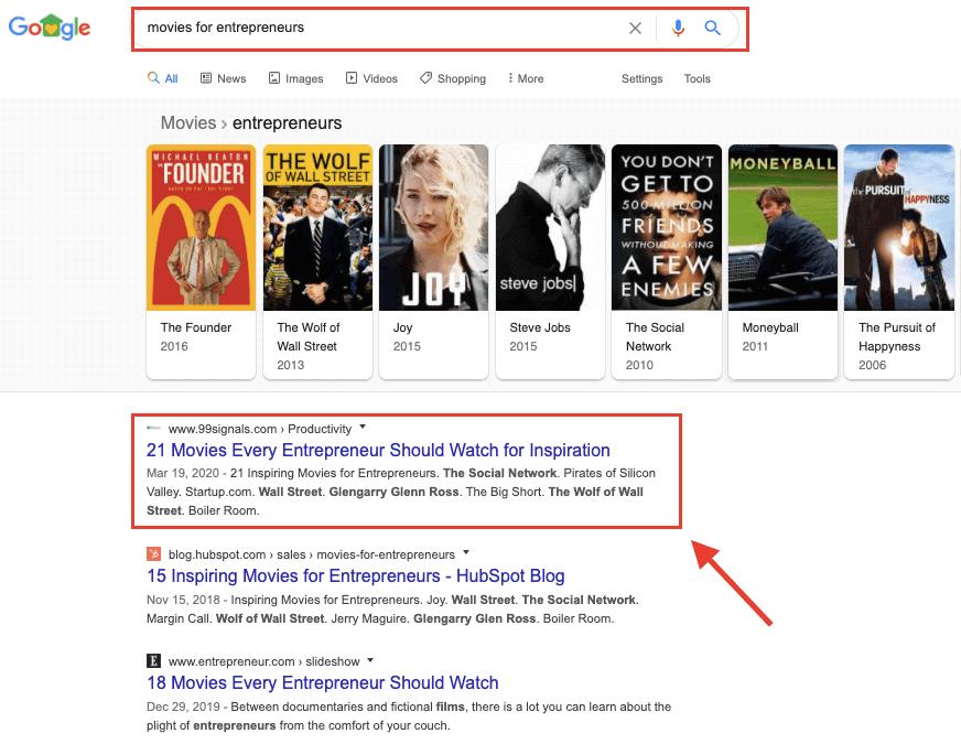 Google SERPs - Position #1