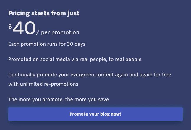 Quuu Promote Pricing