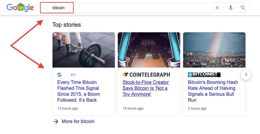Google SERP Features - News Stories