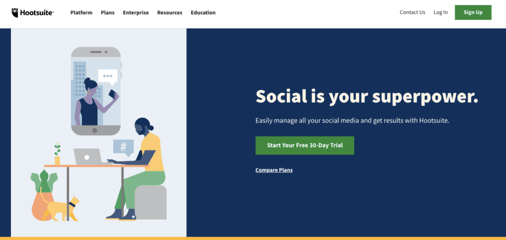 Hootsuite - Facebook Marketing Tool
