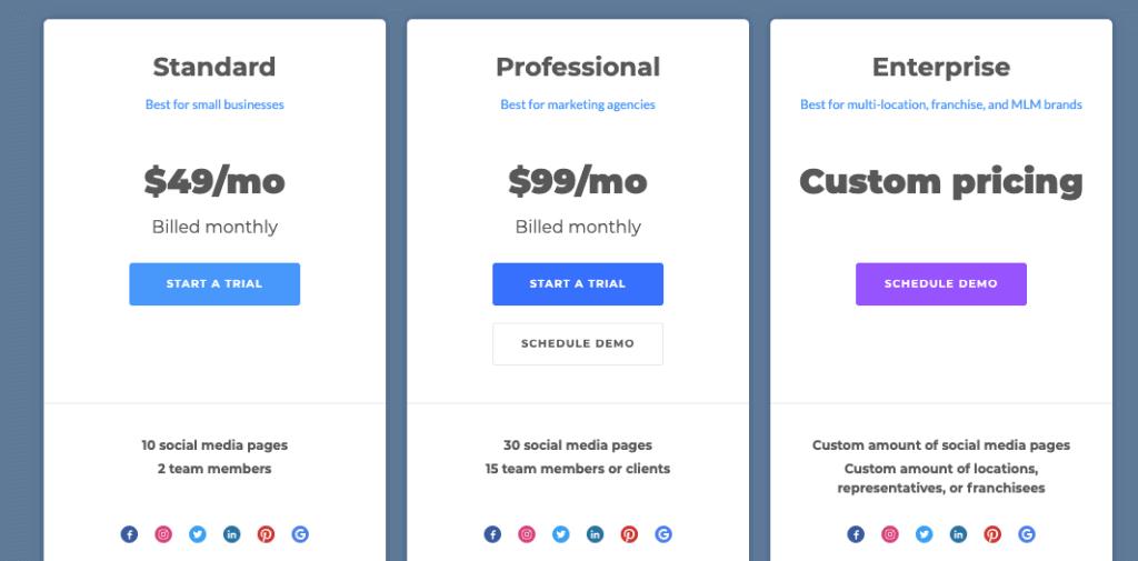 PromoRepublic Pricing Plans