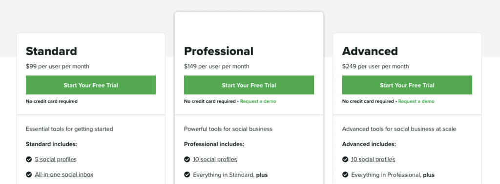 Sprout Social Pricing 2020