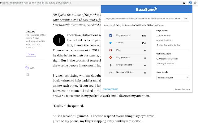 BuzzSumo Chrome Extension 2020 v2