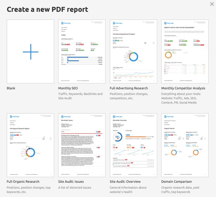 PDF Reports - SEMrush