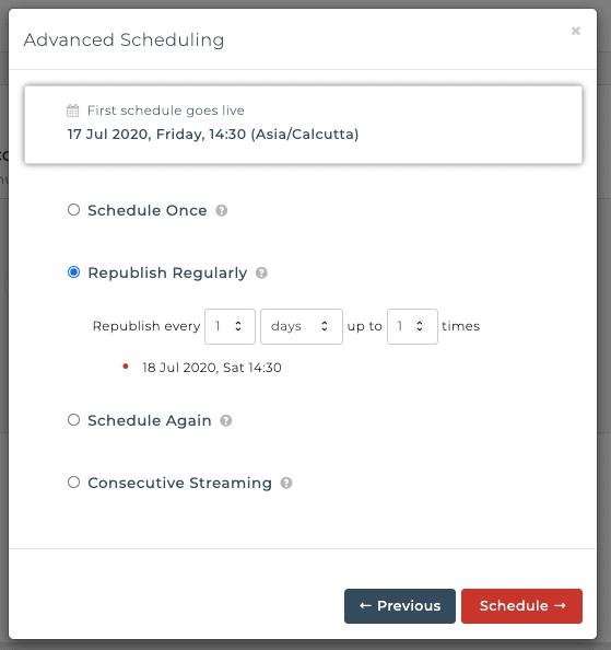 Advanced Scheduling - OneStream Live