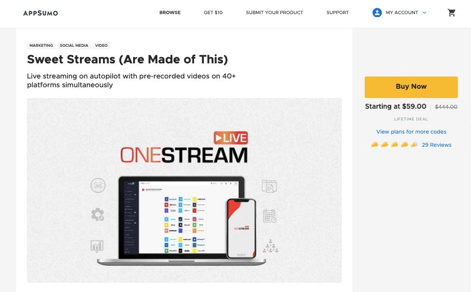 OneStream Live AppSumo Deal