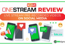 [Video + Article] OneStream Live Review: Livestream Pre-Recorded Videos on Social Media