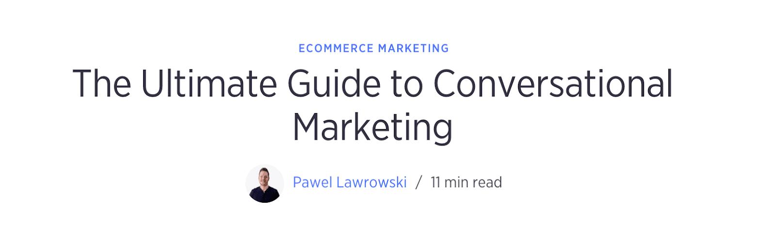 Expert guide to conversational marketing