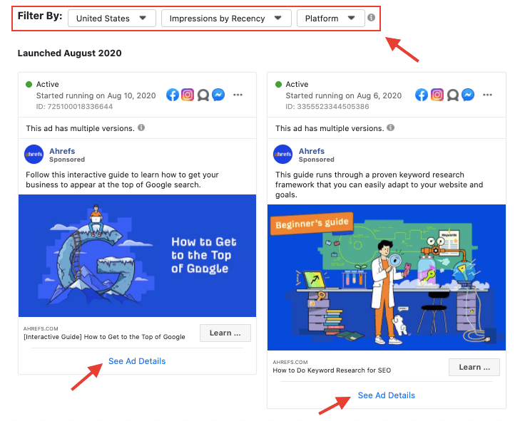 GrowthBar Review - Facebook Ad Library