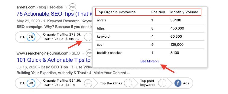 GrowthBar Review - Keyword Tracking
