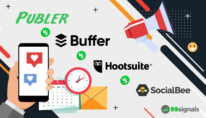 Publer Review - Publer vs Buffer vs Hootsuite vs SocialBee