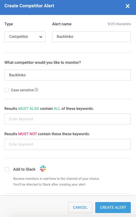 BuzzSumo Competitor Alerts