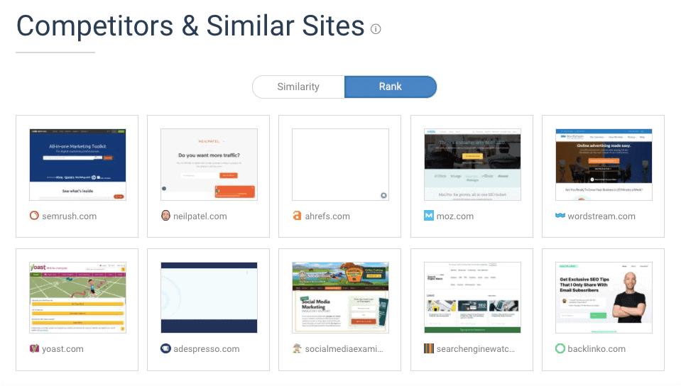 SimilarWeb - Competitors Report