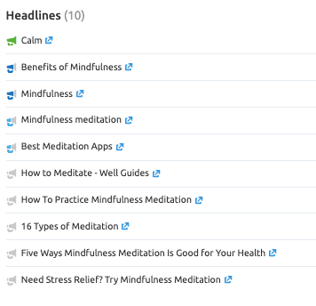 Topic Research Report - Headlines