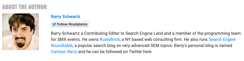 Author Bio - Search Engine Land
