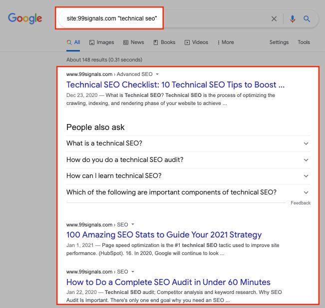 Internal Links - Site Search