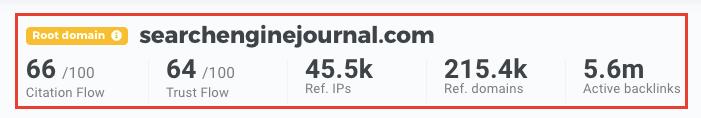 LinkMiner - Domain Stats