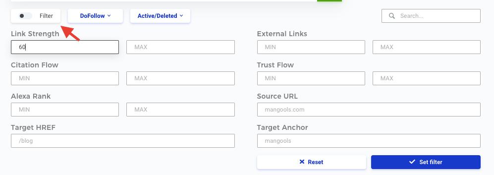 LinkMiner Filters