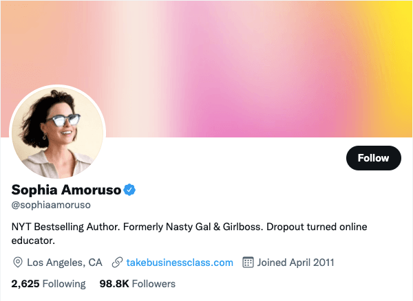 Amoruso on Twitter - 21 Best Twitter Accounts to Follow for Entrepreneurs