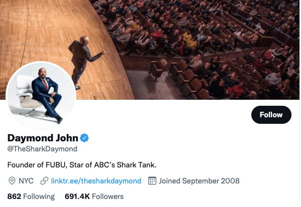 Daymond John on Twitter - 21 Best Twitter Accounts to Follow for Entrepreneurs