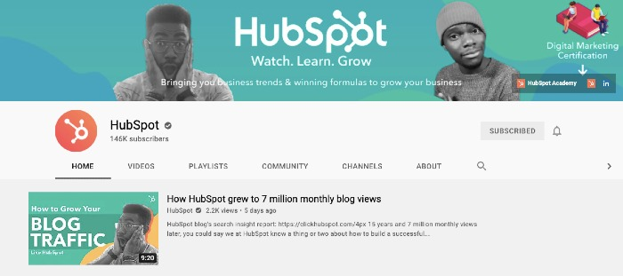 HubSpot's YouTube Channel - Best YouTube Channels for Marketers