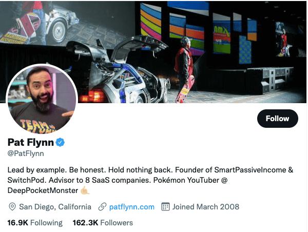 Pat Flynn on Twitter - 21 Best Twitter Accounts to Follow for Entrepreneurs