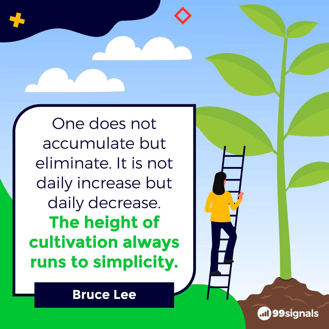 Bruce Lee Quote - 99signals